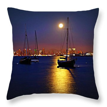 The Glory Of The Heavenly Bodies Throw Pillow by Sharon Soberon