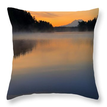 The Glow At Dawn Throw Pillow