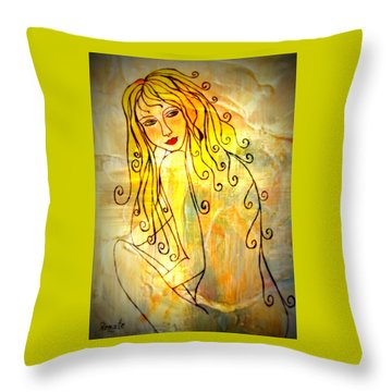 The Glow Of A Woman..... Throw Pillow