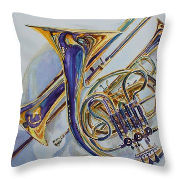 The Glow Of Brass Throw Pillow