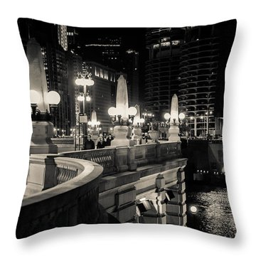 The Glow Over The River Throw Pillow