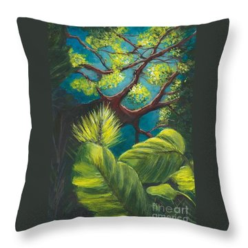 The Goblin Market Restaurant Tree Mt. Dora Throw Pillow