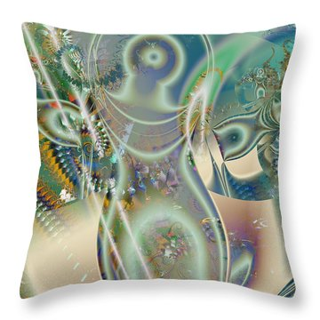The Goddess Throw Pillow by Mary Almond