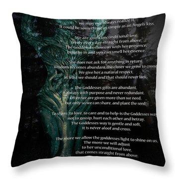 The Goddess Way Throw Pillow