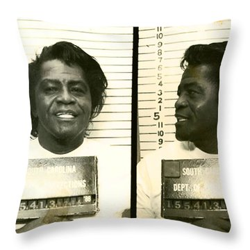 The Godfather Of Soul Throw Pillow by Bill Cannon