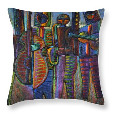 The Gods Of Music Come To New York Throw Pillow by Gerry High