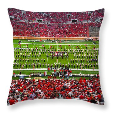 Throw Pillow featuring the photograph The Going Band From Raiderland by Mae Wertz