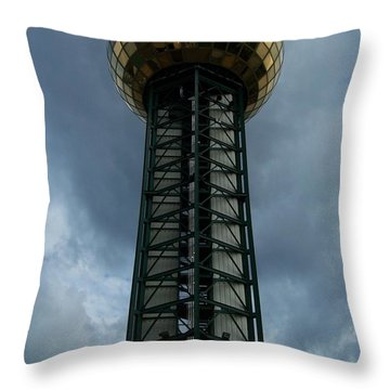 The Gold Dome Tower Knoxvville  Throw Pillow by Jake Hartz