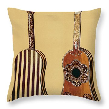 The Gold Temple Of The Principal Idol Throw Pillow by Joseph Moore