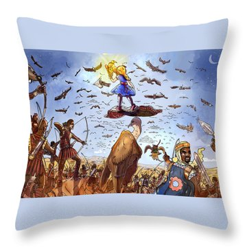 The Golden Bird Throw Pillow by Reynold Jay