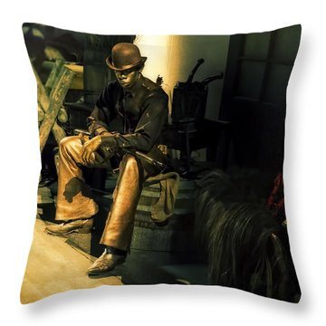 The Golden Cowboy Throw Pillow