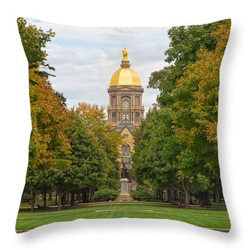 The Golden Dome Of Notre Dame Throw Pillow