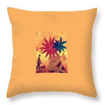 The Golden Jar Throw Pillow