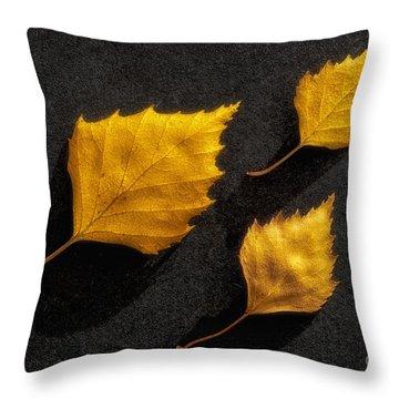The Golden Leaves Throw Pillow by Veikko Suikkanen