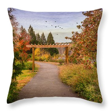 The Golden Path Throw Pillow