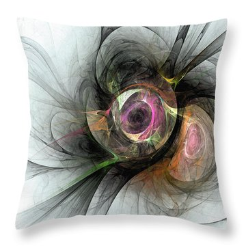 The Golden Reflection Throw Pillow