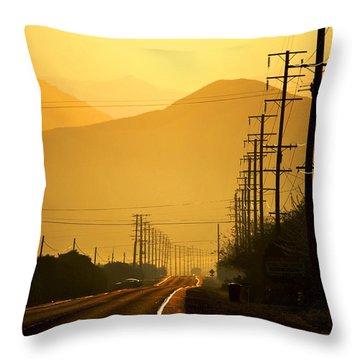 Throw Pillow featuring the photograph The Golden Road by Matt Harang