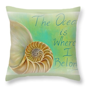 The Golden Spiral  Throw Pillow by Gabriela Valencia