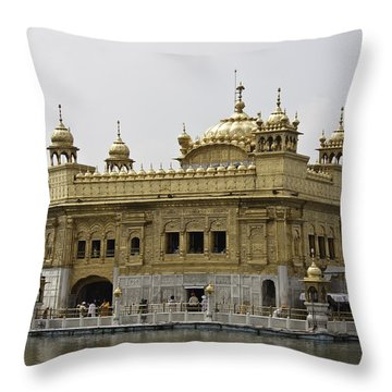 Throw Pillow featuring the photograph The Golden Temple In Amritsar by Ashish Agarwal