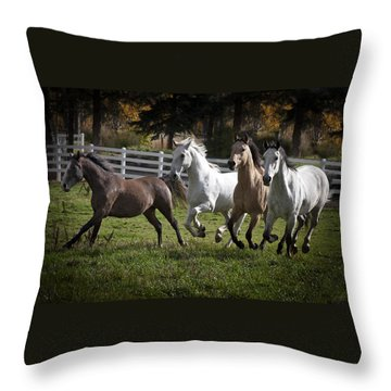 Throw Pillow featuring the photograph The Goldendale Four 7277 by Wes and Dotty Weber
