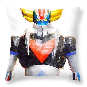 The Goldorak Throw Pillow