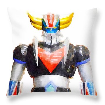 The Goldorak Throw Pillow