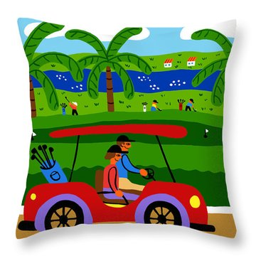 The Golfers Throw Pillow
