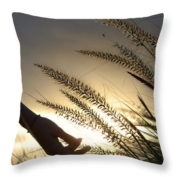 The Good Earth Throw Pillow by Laura Fasulo