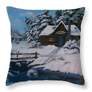 Throw Pillow featuring the painting The Good Life by Sharon Duguay