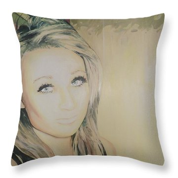 The Good Sister Throw Pillow by Cherise Foster