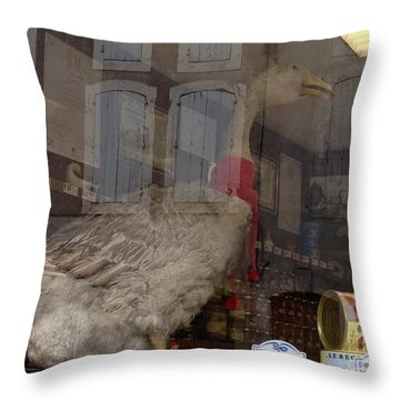 The Humorous Goose Throw Pillow by France  Art