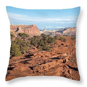 The Goosenecks Capitol Reef National Park Throw Pillow