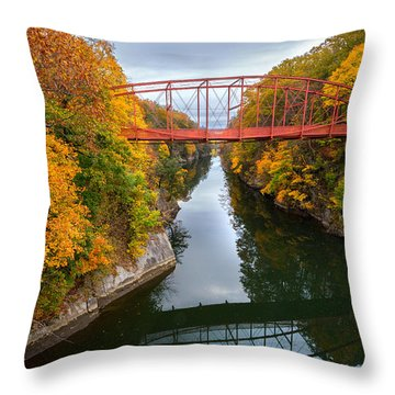 The Gorge Throw Pillow by Bill Wakeley