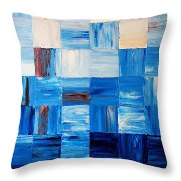 The Goss - Blue Throw Pillow