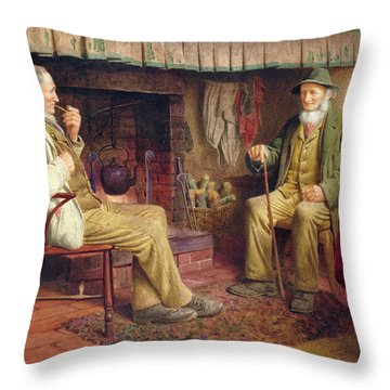The Gossip Throw Pillow by Henry Spernon Tozer