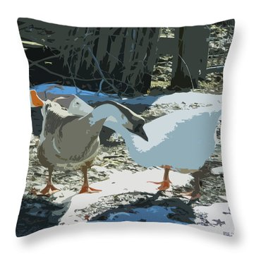 The Gossips Throw Pillow