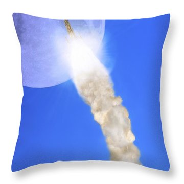The Gothic Rocket Ship - Walter Scott Monument Throw Pillow