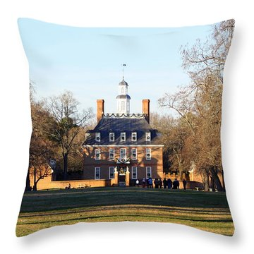 The Governor's Palace Throw Pillow by Patti Whitten