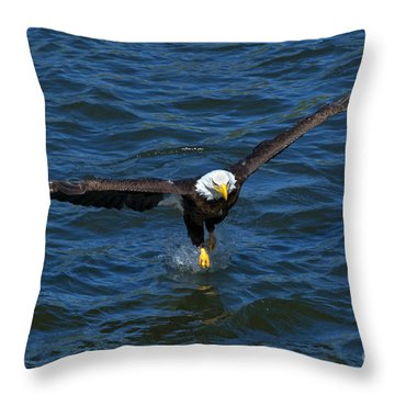 The Grab Throw Pillow by Mike Dawson