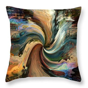 Throw Pillow featuring the digital art The Grand Beyond by Kim Redd