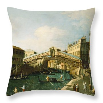 The Grand Canal   Venice Throw Pillow by Canaletto
