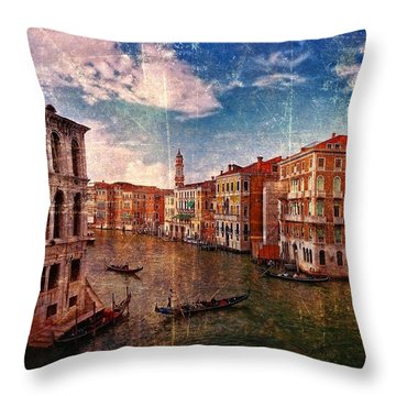 The Grand Canal Venice Italy Throw Pillow by Suzanne Powers