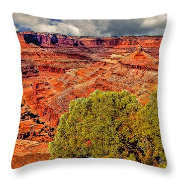 The Grand Canyon Dead Horse Point Throw Pillow