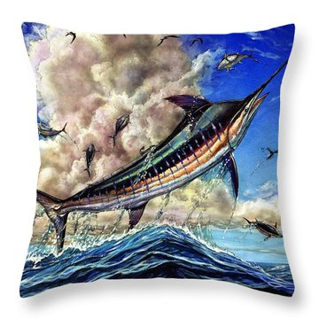 The Grand Challenge  Marlin Throw Pillow