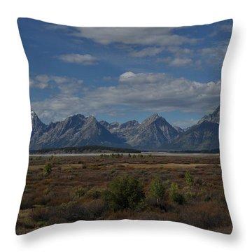 The Grand Tetons Throw Pillow
