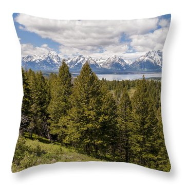 The Grand Tetons From Signal Mountain - Grand Teton National Park Wyoming Throw Pillow