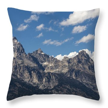 The Grand Tetons - Grand Teton National Park Wyoming Throw Pillow
