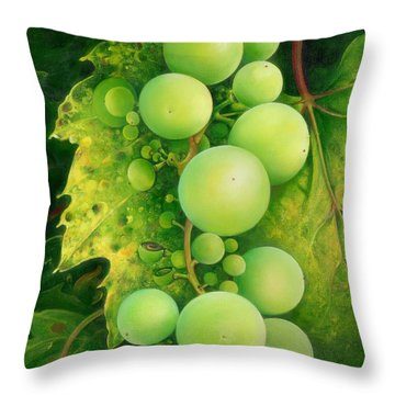 The Grapes Throw Pillow