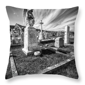 The Graveyard Throw Pillow by Adrian Evans