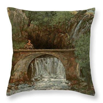 The Great Bridge, 1864 Throw Pillow